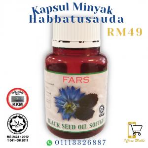 FARS Black Seed Oil Capsule /Kapsul Minyak Habbatussauda