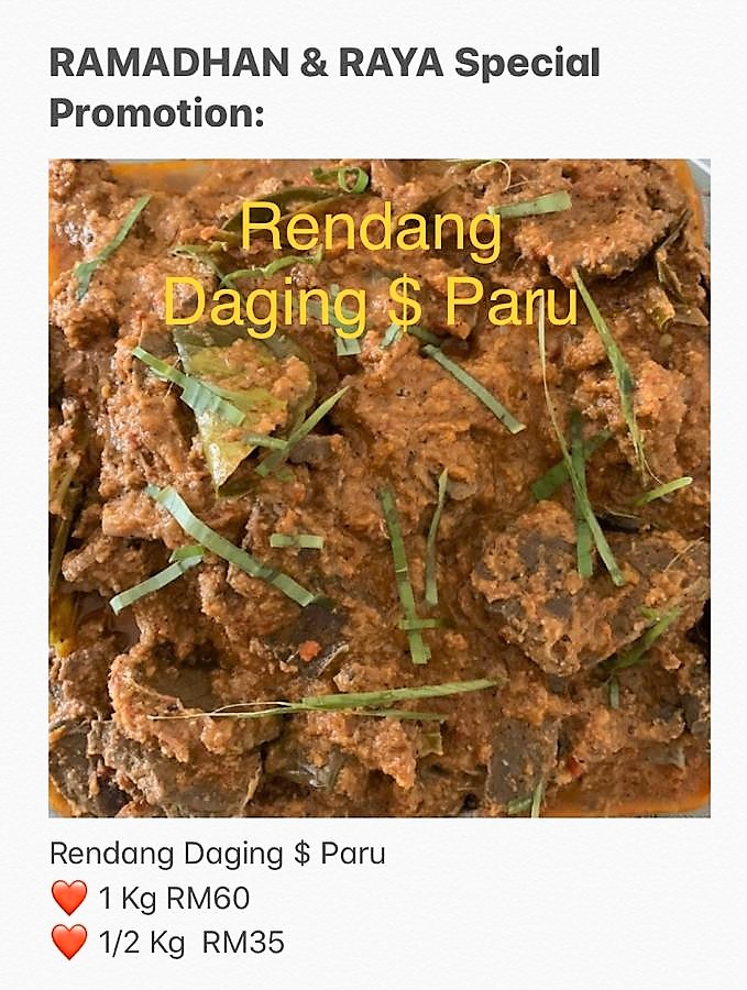 [Express Delivery Only] Rendang Daging & Paru
